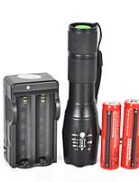 Linternas LED (A Prueba de Agua / Recargable / Resistente a Golpes / Bisel de Impacto / Táctico / Emergencia) - LED 5 Modo 1800 Lumens