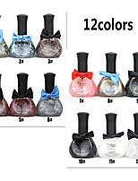 12PCS 12ML Tribal Color Green Nail Polish Bow Series1#-12#12 Colors  Mixed