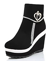 Women's Shoes Customized Materials Platform Wedges / Platform / Fashion Boots / Bootie / Round Toe Boots Casual Black