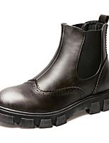 Women's Shoes Flat Heel Comfort Boots Outdoor Black / Red / Silver