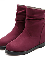 Women's Shoes Leatherette Low Heel Fashion Boots Boots Outdoor / Dress / Casual Black / Blue / Red