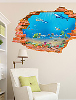 3D Wall Stickers Wall Decals Style Marine Museum Fashion Creative Personality PVC Wall Stickers