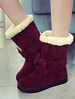 Calçados Femininos - Botas - Botas de Neve - Rasteiro - Preto / Vermelho / Cinza - Lã - Ar-Livre / Escritório & Trabalho / Casual