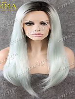 Hot Sale Popular  Gradient Lace Wig Hand Tied Lace Front Wig on Sale EMMA Wigs the Best Wigs Store Blond Wig Layerd Wig