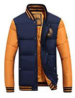 New winter man city fashion thickening cold warm collar baseball uniform down jacket