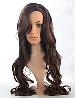 2015 Women Ombre Fashion Natural Wavy Brown Janpanese Heat Resistant Synthetic Long Hair Wig 8834-33H30 22