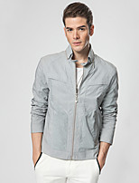 Men's Long Sleeve Jacket , Nylon Casual / Work / Sport Pure
