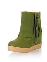 Chaussures Femme - Bureau & Travail / Habillé / Décontracté - Noir / Vert / Rouge / Os - Talon Bas - Bout Arrondi / Bout Fermé - Bottes -