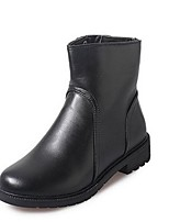 Women's Shoes  Low Heel Fashion Boots Boots Casual Black / Burgundy