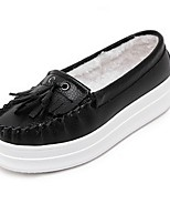 Women's Shoes  Platform Comfort / Round Toe Loafers Outdoor / Casual Black / White