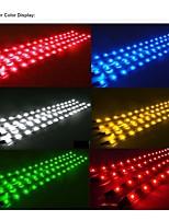 10PCS 12V 15 LED 30cm Car Motor Vehicle Flexible Waterproof Strip Light White
