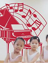 Musica / Fashion Adesivi murali Adesivi aereo da parete , PVC 57m*60cm