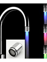 Battery-Free Stylish Water Powered Kitchen Temperature Control Heat Sensor LED Faucet Light