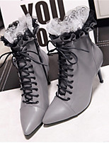 Women's Shoes  Stiletto Heel Pointed Toe Boots Casual Black / Gray