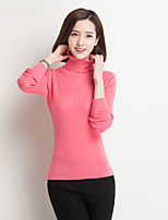 Women's Striped / Solid Blue / Pink / Red / Black / Almond Pullover , Bodycon Long Sleeve