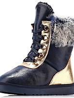 Chaussures Femme - Habillé / Décontracté / Soirée & Evénement - Noir / Bleu - Talon Plat - Bottes de Neige / Bottes à la Mode - Bottes -