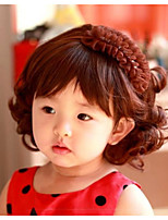 Children Cute Short Hair Wig Repair Face