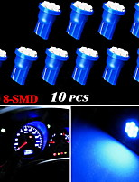 10X Blue Wedge Side T10 W5W 192 194 168 8-SMD LED Bulb Instrument Cluster Light