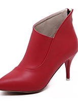 Women's Shoes  Stiletto Heel  Pointed Toe Boots Dress Black / Red / Gray