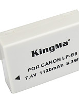 KingMa LP-E8 LP E8 LPE8 Camera Battery For Canon EOS 550D 600D 650D 700D kiss X4 X5 X6i X7i Rebel T2i T3i T4i T5i