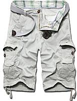 Men's Shorts , Casual / Plus Sizes Striped / Pure Organic Cotton