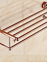 Bathroom Shelf ,Bath towel holder, Neoclassical Rose Gold Wall Mounted