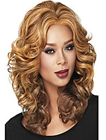 Fashion Lady Long Brown Blonde Mixed Curly Cosplay Full Wigs