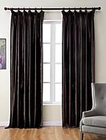 (One Panel) Bedroom Living Room Environmental Brown Polyester Italian Velveteen Curtain