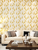 Contemporary Wallpaper Art Deco 3D Relief Leaves Wallpaper Wall Covering Non-woven Fabric Wall Art
