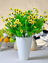Rural Decorative Flower Polyester Daisies Artificial Flowers