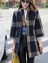 Damen Mantel  -  Leger ¾-Arm Tweed / Polyester