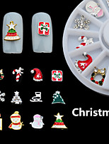 1Box mixed Alloy 3D Nail Art Christmas Glitter Rhinestones Decorations For Nails