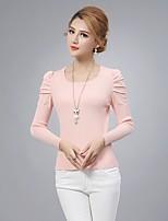 Damen Pullover  -  Sexy Baumwolle / Strickware Medium Langarm