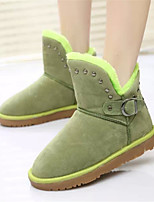 Women's Shoes Low Heel Round Toe Boots Casual Black / Brown / Green / Purple