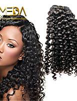 3pcs / lot non trasformati estensioni dei capelli vergini peruviani onda capelli umani naturali nero 8 '' - 30 '' capelli tesse