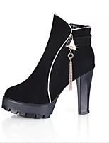 Zapatos de mujer - Tacón Robusto - Tacones / Plataforma / Botines / Punta Redonda - Tacones / Botas - Casual - Materiales Personalizados -