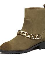 Women's Shoes Flat Heel Comfort Boots Outdoor Black / Brown