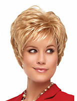 Hot Sale Blonde Short  Syntheic  Wave  Wig Extensions  Charming