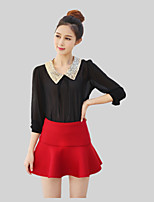Fashion Spring Women's Wild Casual Was Thin  Flounced  Mini Skirts Culottes