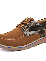 Men's Shoes Outdoor / Athletic / Casual Suede Oxfords Blue / Brown