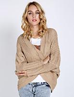 Damen Strickjacke  -  Sexy / Leger / Arbeit Polyester / Acryl Medium Langarm
