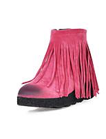 Chaussures Femme - Habillé / Décontracté - Noir / Jaune / Vert / Rouge / Gris - Talon Compensé - Bout Arrondi / Bottes à la Mode - Bottes