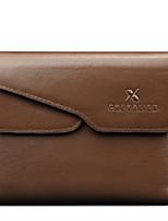 Bi-fold (due scomparti) - Portafoglio / Porta carte di credito / Portamonete - Uomo - Vacchetta - Marrone