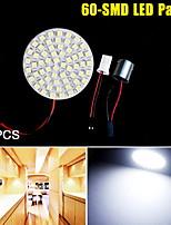 5PCS Xenon White 1156 BA15S T10 60-SMD LED Light Panel RV Trailer Interior Dome