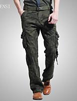 Men's outdoor overalls pocket straight camouflage pants pants baggy pants male Korean tide