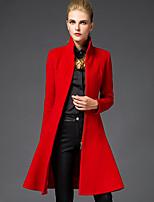 Cappotto Da donna Casual / Da ufficio / Taglie forti Manica lunga Tweed