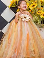 플라워 걸 드레스 - 볼 가운 민소매 발목 길이 명주그물 / 폴리에스터
