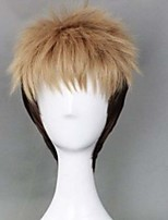Fashion Color Cartoon Wig Male Yellow Mixed Color Short Wigs