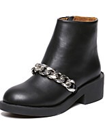 Women's Shoes Leather Chunky Heel Comfort Round Toe Fashion Boots Casual More Colors Available