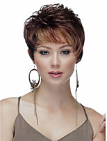 Europe and the United States wind Women Mix Color lady Curly Short Synthetic Hair Wigs